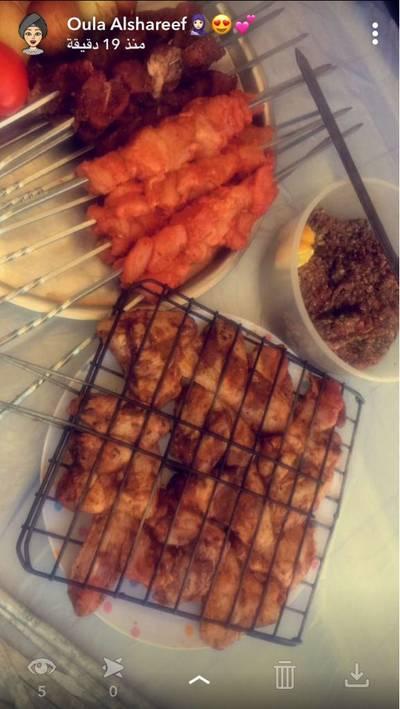 مشاوي لحم ودجاج