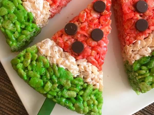 رقائق الأرز المحمص بالمارشميلو 🍉