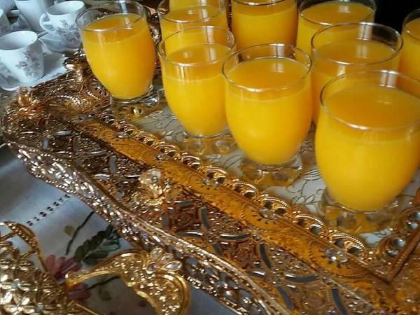 عصير برتقال بارد ومنعش🍹