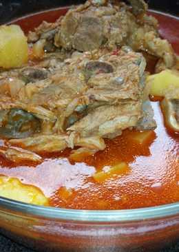 يخنة البطاطا مع اللحم بعضمه☺😋😋