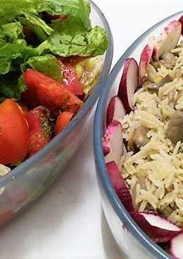 الأرز بالفول مع الفطر