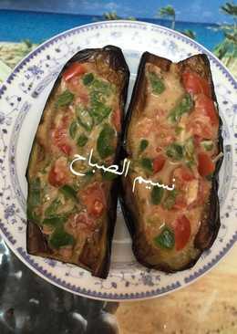 #اكلات_ماما باذنجان مقلي محشي