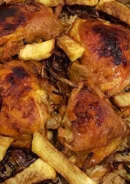 رز بخاري - دجاج