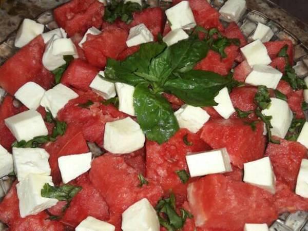 سلطه البطيخ والجبنه 👍