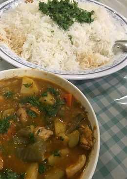 أرز ابيض مع ايدام