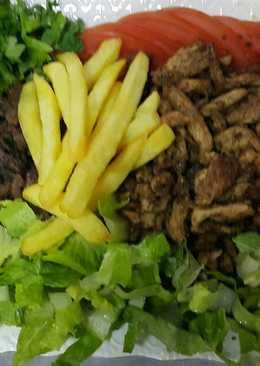 شاورما الدجاج واللحم 🍗🍖🍅
