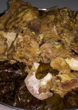ورق العنب (اليبرق) مع لحم الغنم