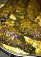 سمك على بطاطا بالفرن