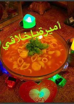حساء فاصوليابالمكرونه 😋💚