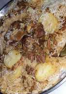 كبسة لحم بالفطر والبطاطس 🍄