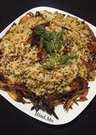مجدرة الأرز بالعدس و البصل