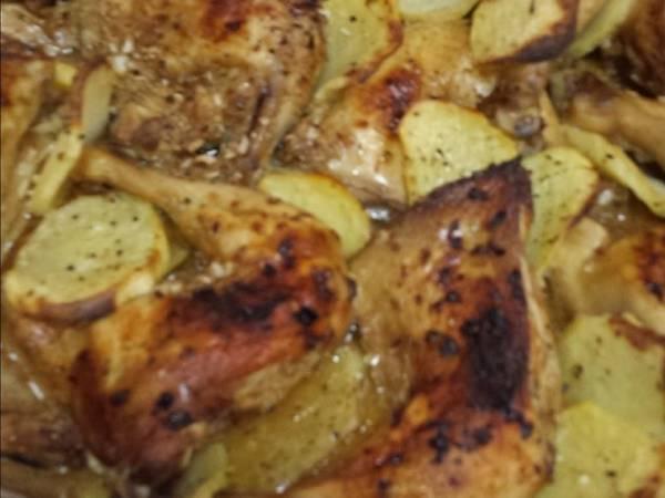 صينية الدجاج والبطاطا