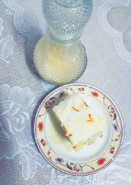 كيكة الحليب بالزعفران