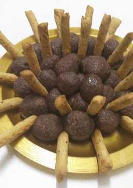كرات جوز الهند بطعم الشوكولاتة