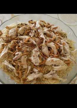 مقلوبة الباذنجان بصدور الدجاج