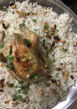 فت دجاج محشي أكله فلسطينية شعبيه