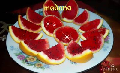 الجيليه بقشور البرتقال...طبخاتmadona