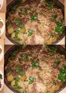 شرحات لحم 🥩 مع البطاطا 🍟