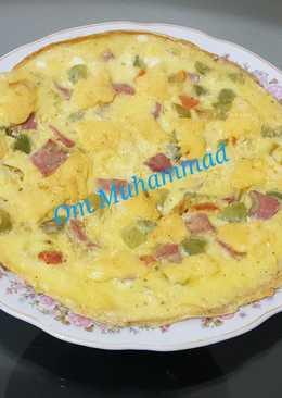 بيض مقلي بالجبنة والمرتديلا 🧀🥚🍳👌👍
