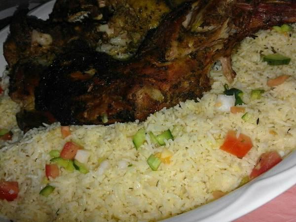 #نجم_العزايم حنيذ اللحم مع الرز