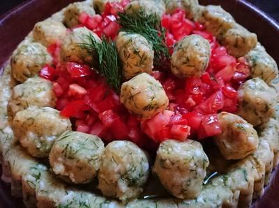 تارت البطاطا و البيض المسلوقة مع الشبت ☺😋