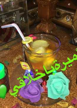 شاي بالليمون مثلج 😋 💚