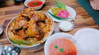 مندي دجاج 🍗 مع صلصة الدقوس