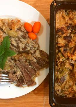 صينية ستيك اللحم بالخضار