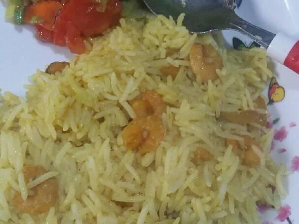 أرز بحمسة الروبيان ????