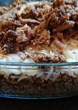 فريكة مع الرز باللحمة طعم روعة ☺😋