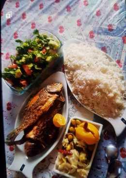 السمك بالرز الأبيض 🐡