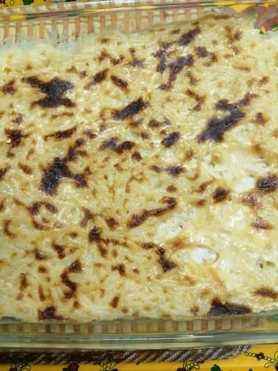 صينية الرز بالقشطة😋😋.