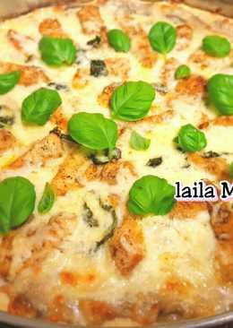 بيتزا ألفريدو الايطالية 🍕🧀🍗