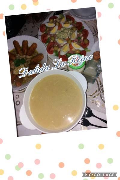 حساء الدجاج بالجبن #شوربات_رمضان