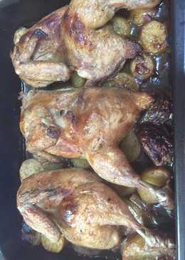 صينية دجاج مع بطاطا بالفرن