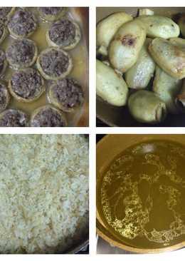 بطاطا محشيه مع الخرشوف والارز روووعه👌🏻😋