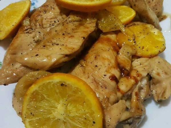 صدور دجاج بصوص البرتقال