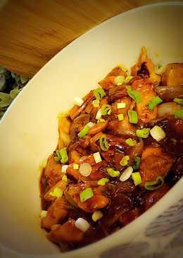 دجاج بالبصل على الطريقة آلصينية ؛، 🐓🎋