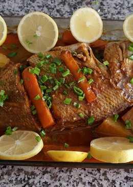 سمك مشوي بالصلصة الحارة