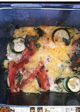 بيض و خضار مطهوة في الفرن علي الطريقة الاطالية