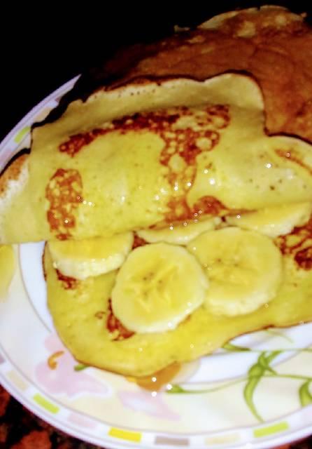 طريقة  الكريب الحلو باللبن الرائب و الموز في ثلاث خطوات