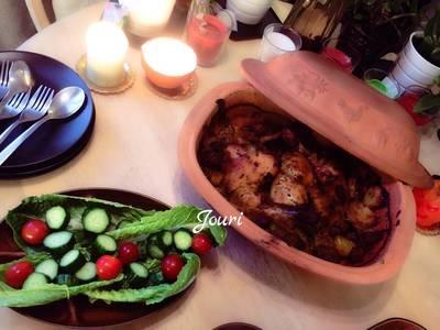 طاجن الدجاج ب الخضار 🥗مفيد للدايت لان من غير زيت