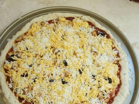 بيتزا كرسبي بالصور من أم راكان كوكباد
