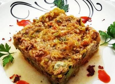 Zucchine Italiane ao molho de Carne com Especiarias