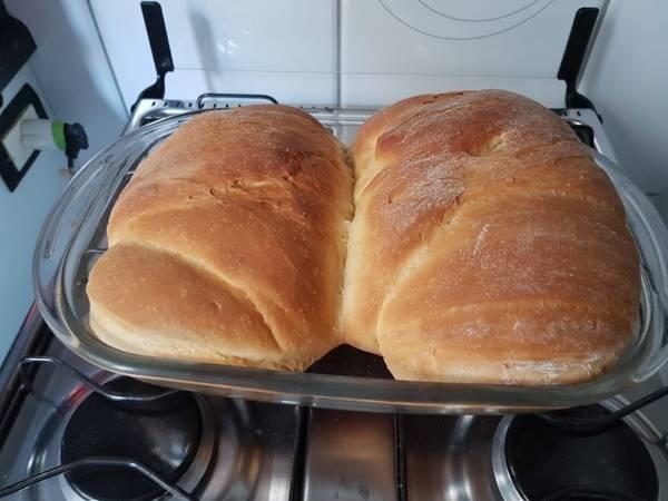Pão caseiro com Fermento Biológico Seco