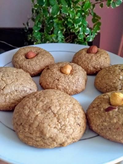 Cookies de avelãs e amêndoas sem glúten e sem lactose