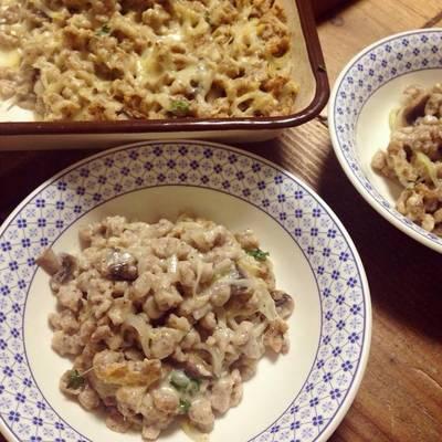 Käsespätzle mit Vollkornmehl und Pilze