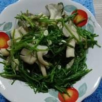 鮮菇炒水蓮