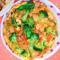 [低卡料理]雞肉花椰菜烘蛋