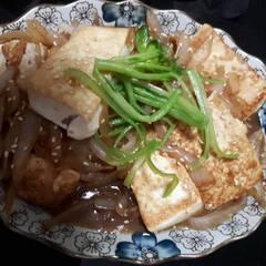 照燒豆腐 的試煮成品